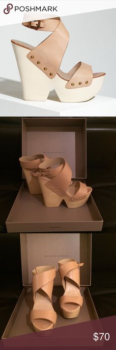 ⭐️BRAND NEW⭐️ BCBGMaxazria Wedges ⭐️BRAND NEW⭐️ BCBGMaxazria natural platform wedge heels are perfect for a dressed-up pool party or spring/summer night out. Fit true to size. BCBGMaxAzria Shoes Platforms