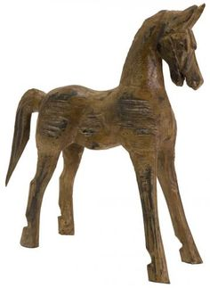 Albesia Wood Carved Horse - Statues - Home Accents - Home Decor   HomeDecorators.com $44