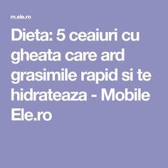 Dieta: 5 ceaiuri cu gheata care ard grasimile rapid si te hidrateaza - Mobile Ele.ro