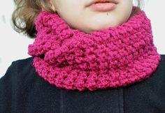 Handmade Crochet Fuchsia Infinity Cowl Scarf For by FarahsAttic, $12.00