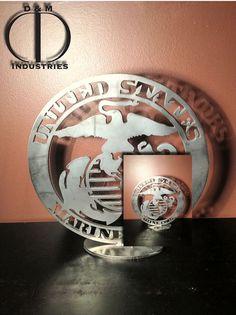 Marine Corps Globe precision plasma cut in 3/16 by DandMindustries, $55.00