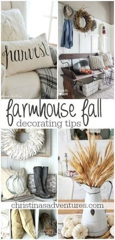 fixer upper style farmhouse fall decorating tips - so many easy ways to style your home this fall! Industrial Chic, Unique Home Decor, Cheap Home Decor, Farmhouse Design, Farmhouse Decor, Modern Farmhouse, Farmhouse Style, Country Style, French Country