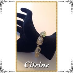"""Citrine Bracelet Bracelet is made from citrine stones and has a sterling silver, magnetic clasp. When closed it is 8"""" in diameter. Excellent condition. Jewelry Bracelets"""