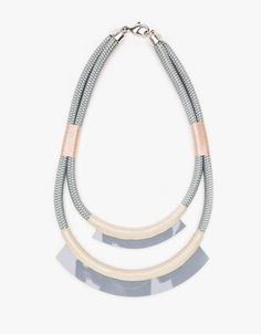 The Bea #Necklace from Orly Genger by Jaclyn Mayer is Chicly Structured trendhunter.com
