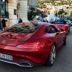 Bentley Continental GT Convertible and the Mercedes AMG GT.