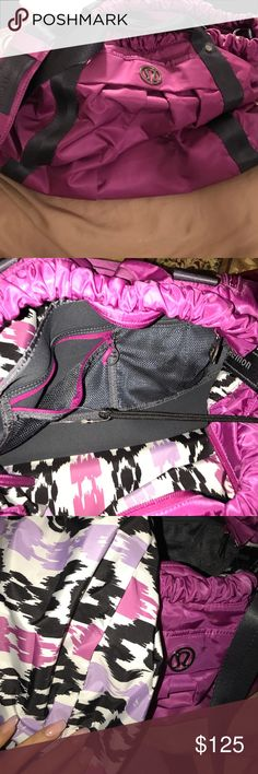Lululemon athletica gym bag Over sized bag in great condition color is magenta lululemon athletica Bags Travel Bags