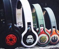Keep your tunes close to you no matter how many galaxies you travel through with the Star Wars themed headphones. With designs representing everyone from the light to the dark side, they'll deliver crisp and clear sound every time.
