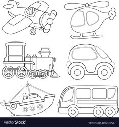 Check the ultimate selection of printable coloring pages of animals, dinosaurs, fruit, books or Lego. Print quality coloring sheets for free. Colouring Pages, Coloring Sheets, Coloring Books, Transportation For Kids, Busy Book, Applique Patterns, Doily Patterns, Dress Patterns, Drawing For Kids