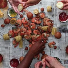Homemade Shrimp Boil
