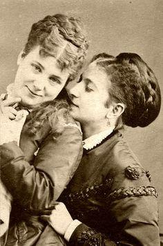 Proud Victorian era lesbian couple