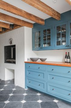 75 blue kitchen cabinets inspiration for kitchens with blue cabinets 31 - coodecors Küchen Design, Layout Design, House Design, Interior Design, Kitchen Interior, New Kitchen, Kitchen Wood, Kitchen Cabinet Inspiration, Cabinet Ideas