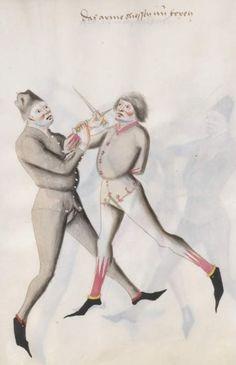 Kal, Paulus: Fechtbuch, gewidmet dem Pfalzgrafen Ludwig Bayern, 2. Hälfte 15. Jh. (nicht nach 1479) Cgm 1507 Folio 79