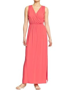 Womens Cross-Front Maxi Dresses I like this better than the one with the tie