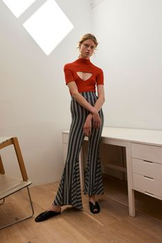 CUTOUTS + STRIPED FLARES  Beaufille Spring 2018 Ready-to-Wear Collection Photos - Vogue