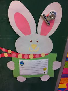 Cute bunny template and stationary included. Could make with my class and write about it.