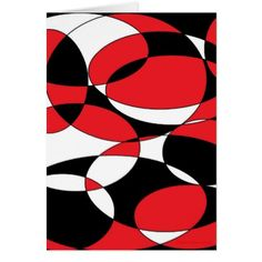#white - #Black White and Red Ellipticals Card