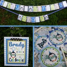 Penguin Birthday Party Decorations Fully Assembled by PartyGloss