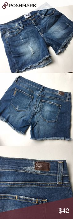 """Paige Jimmy Jimmy cut off denim shorts Excellent condition, no flaws. Approx 32"""" waist and 4.5"""" inseam. Paige Jeans Shorts Jean Shorts"""