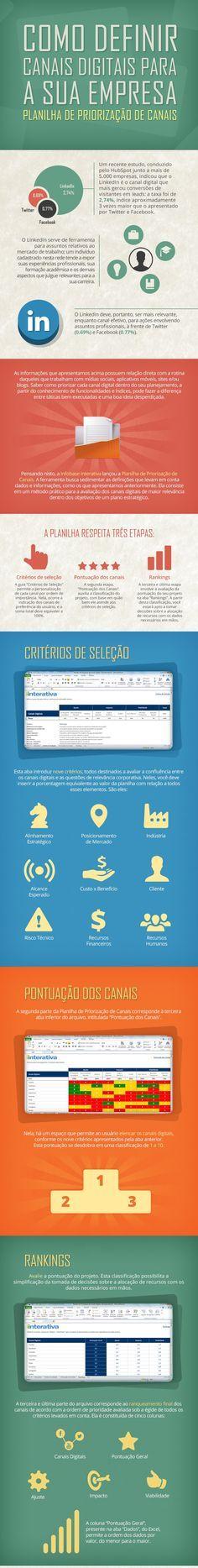 Infográfico: Canais Digitais para Empresas   Fonte: IInterativa