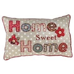 Patchwork Home Sweet Home Cushion | £9.95 DotComGiftShop
