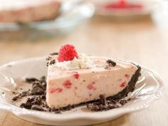 """Raspberry Cream Pie (Dinner's All Done) - """"The Pioneer Woman"""", Ree Drummond on the Food Network."""
