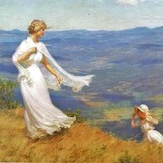 The West Wind ~ Charles Courtney Curran ~ (American: 1861-1942)