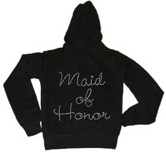 This site can customize all kinds of Wedding stuff! I see some hoodies in our future!