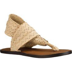 Sanuk Women's Yoga Devine Sandal - 9 - Light Khaki Sanuk Sandals, Sanuk Shoes, Synthetic Rubber, Skate Shoes, Heeled Mules, Yoga, My Style, Stylish, Heels