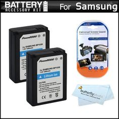 2 Pack Battery Kit For Samsung NX1000 Digital Camera Includes 2 Extended Replacement (1200 maH) ED-BP1030 (BP1030) Batteries + LCD Screen Protectors + MicroFiber Cleaning Cloth by ButterflyPhoto. $19.95. Product Description This Kit Includes Some Of The Essential Accessories You Need To Take Full Advantage Of Your New Samsung NX1000 Digital CameraKit Includes:♦ 1) Vidpro - (Qty. 2) Replacement Lithium-ion Rechargeable battery for Samsung BP1030 1200mAh (ED-BP1030)