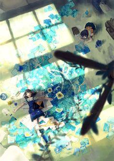 images for illustration anime art Manga Anime, Art Manga, I Love Anime, Awesome Anime, Desu Desu, Ciel Nocturne, Japon Illustration, Arte Obscura, Estilo Anime