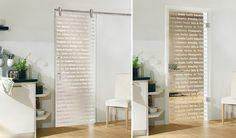Puertas de cristal decorativo para la cocina