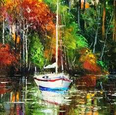 'The Yatch' by Gleb Goloubetski   Oil on Canvas   50cm x 60cm