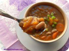 pumpkin, white bean and lentil soup