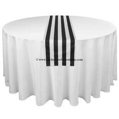 Wedding Black and White Stripe Table Runner by exclusiveelements, $16.00