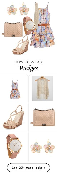 """spring day"" by vickyl01 on Polyvore featuring GUESS by Marciano, Seychelles, Chanel, Daytrip, MVMT and Mixit"