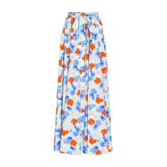 Alexander Terekhov Printed Maxi Skirt (38.990 RUB) ❤ liked on Polyvore featuring skirts, red, floral print skirt, blue maxi skirt, red skirt, patterned maxi skirt and long blue skirt