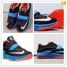 "653996-004 Nike KD VII ""Away"" Black/Photo Blue-Hyper Crimson-Metallic Silver Store Online"