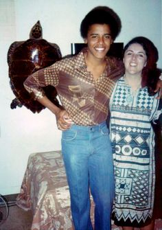 Barack Obama and his mother, Stanley Ann Dunham, 1980