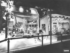 Christmas theme window display in the Lazarus department store in downtown Columbus, Ohio, 1966.
