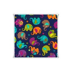 Tela patchwork de elefantes 100% algodón.