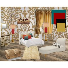 Royal by vonda-brooks on Polyvore featuring interior, interiors, interior design, home, home decor, interior decorating, Redford House, Ralph Lauren, Eastern Accents and Astek