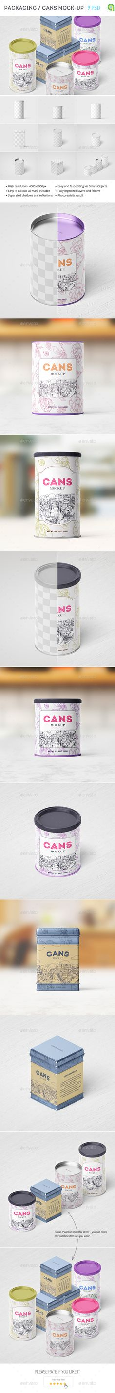 Packaging / Can Mockup — Photoshop PSD #conservation #food • Available here → https://graphicriver.net/item/packaging-can-mockup/15375171?ref=pxcr