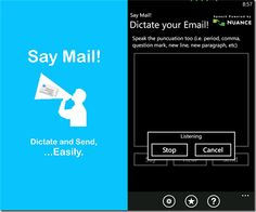 Dictate Speech To Text Using Say Mail For Windows Phone