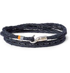 Miansai Woven-Leather and Metal Hook Bracelet  | MR PORTER