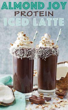 Almond Joy Protein Iced Latte