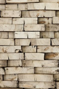 I know, It's just a stack of wood - but it looks so good!