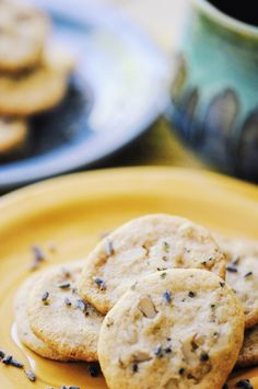 Lavender, Ginger, & Walnut Mini Tea Time Shortbread Cookies (Gluten Free, Vegan, Refined Sugar Free)
