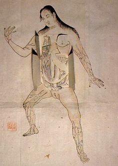 Ilustraciones anatómicas en Japón durante el periodo Edo