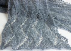 Upstairs - Schal aus Mohair und Seide by thecookingknitter.com