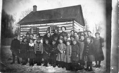 Woodland Dale School, Town of Stettin, Marathon County ca. 1900. Source: The State of Wisconsin Collection